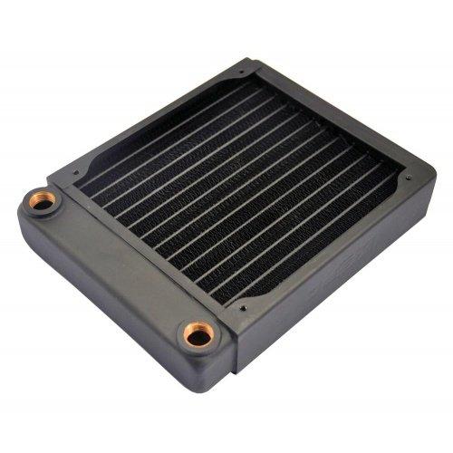 XSPC EX140 Slim Line Single Fan Radiator - Computer Cooling Components (Computer case, Cooler, 14 cm, 1 fan(s), Black, 143 mm)