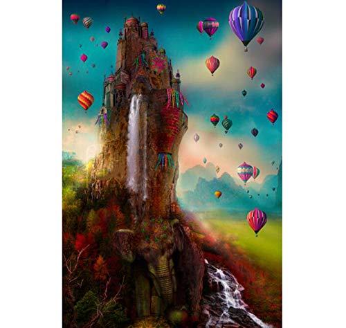 Lkrou DIY Diamant malerei Elefanten Wasserfall Ball Elefanten handgemachte Stickerei Kunst kreuzstich mosaik dekor Geschenk manuelle Produktion 40x50 cm (Delphin-stress-ball)