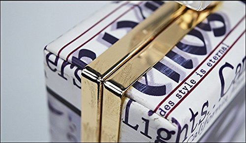 Damen PU perfume box Clutches in Classicla characteristics Printed For Party Hochzeit Club(4.8In*2.4In*6.3In) Muster-12