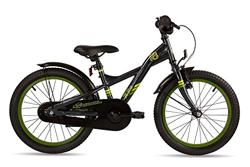 S\'COOL Kinder XXlite Steel 18 Kinderfahrrad Black/Yellow Zoll