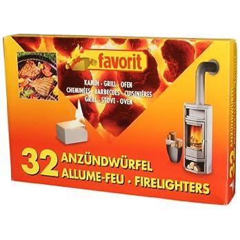Favorit 1250 Anzndwrfel Fr Grill Kamin Und Ofen 32 Er Pack