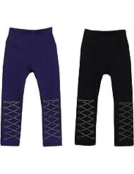 Lot de 2Fashion Pantalon Legging Little Girls printemps 6–7ans