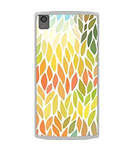 Leaves Pattern 2D Hard Polycarbonate Designer Back Case Cover for OnePlus X :: One Plus X :: One+X