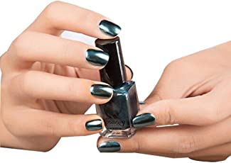 WILLTOO Mirror Nail Polish Plating Paste Metal Color Stainless Steel Size:5.8cm*5.8cm Dark Blue