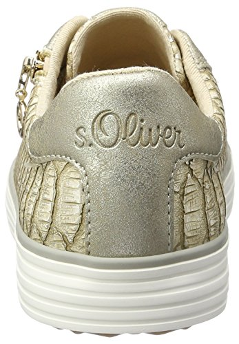 s.Oliver 23615, Scarpe da Ginnastica Basse Donna Beige (DUNE/GOLD 425)