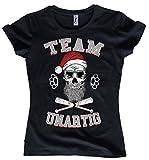 NG articlezz Damen T-Shirt Team UNARTIG Weihnachten Totenkopf Bad Santa Skull S-XXL