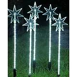 LED Leuchtstäbe mit Stern, 5 Stück, kaltweiß
