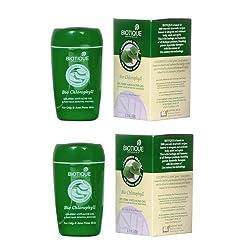 2 x Biotique Chlorophyll Gel Oil- Free Anti-Acne Gel (65g) (Pack of 2)- Shipping by FedEx