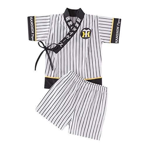 happy event Infant Baby Jungen gestreiften Kimono Tops + Shorts Outfits Set Japanische Kleidung
