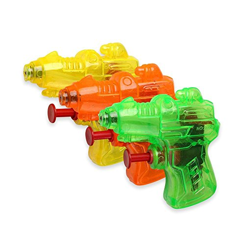 S/O® 12er Pack Wasserpistole Mini Space Wasserpistolen Wasser Pistole Water Gun Watergun