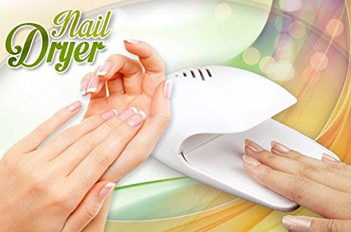 Cartshopper Electric Wind Automatic Pressure Activates Nail Dryer White Tip Fan for Nail Polish, Nail Art, Stamping Kit Etc