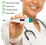 MCP Digital Thermometer C and F Scale (White)