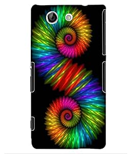 ColourCraft Abstract Image Design Back Case Cover for SONY XPERIA Z4 MINI / COMPACT