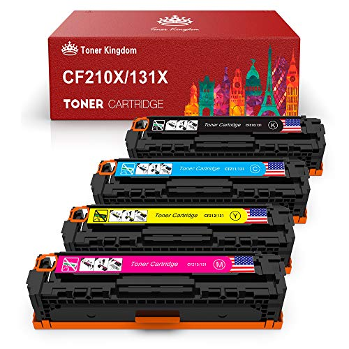 Toner Kingdom 4 Pack Kompatible für HP 131X CF210X CF210A 131A Toner für HP LaserJet Pro 200 Color M251n Color M276n M251nw M276nw,128A-CF320A CM1415FNW CP1525N,125A-CB540A CP1515n CP1215 Drucker