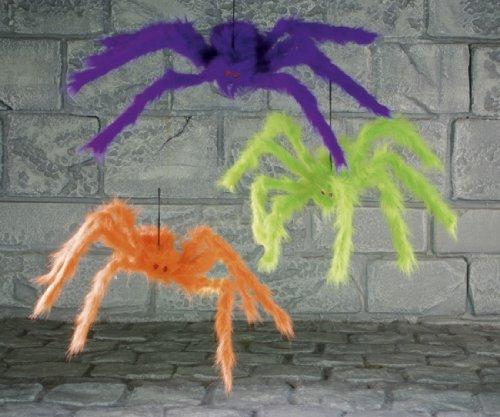 Hanging ragno colorato. 50cm Hanging colorato ragno 50cm decorazione per feste - Hairy Spider Decoration