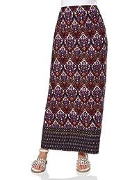 Roman Originals Women's Border Print Maxi Long Summer Skirt