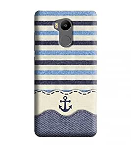 Printvisa Lines Cool Sailor Sea Beach Ship Designer Hard Back Case For Redmi 4 Prime
