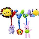 De feuilles Kinderwagenkette Safari Mobile-Kette mit Niedlichen Figuren Aufhängen Kinderwagen Baby-Autositz-Spielzeug (Lion)