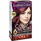 Eugène Color - Color & Eclat - Coloration Permanente Brillance Longue Durée à l'Huile d'Argan - Nuance Rouge Profond 66