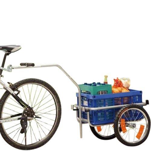 ERCOLE POLIRONESHOP remolque Eje para bicicleta bici transporte gasto material objetos sport cicloturismo picnic con funda extraíble y resistente al agua con asas turquesa