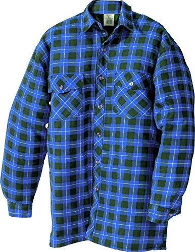 Thermo camicia camicia da lavoro invernale termica camicia blau-kariert XXL