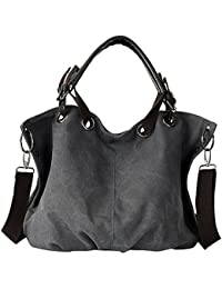 CloSoulDirect Women Heavy Duty Shoulder Bag Canvas Crossbody Bag Work Tote Handbag Large Capacity