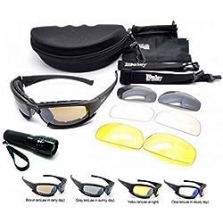 Nueva Daisy X7 Ejército táctico militar ejército gafas al aire libre gafas 4 lentas gafas de sol gafas de sol para pesca, escalada, caza y excursionismo
