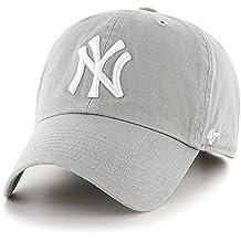 '47adultos Tapa MLB New York Yankees Clean Up, unisex, Kappe MLB New York Yankees Clean Up, gris, Talla única