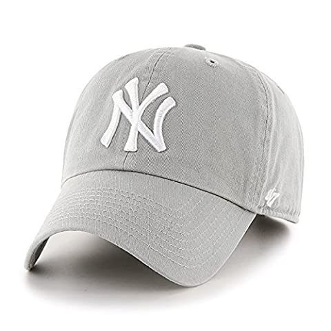 ´47 Erwachsene Mlb New York Yankees Clean Up Kappe, Grey, OSFA