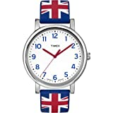 Timex Unisex Quartz Watch with White Dial Analogue Display and Multi-Colour Resin Strap 99946817