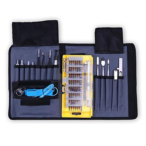 Schraubendreher Set, 77 in 1 Magnetische Werkzeugset Precision Electronic Repair Tool Kit Magnetic Driver Kit für iPad, iPhone, Gläser, Laptops, PC, Smartphones, Uhren, Tablets, Brillen von Konomio