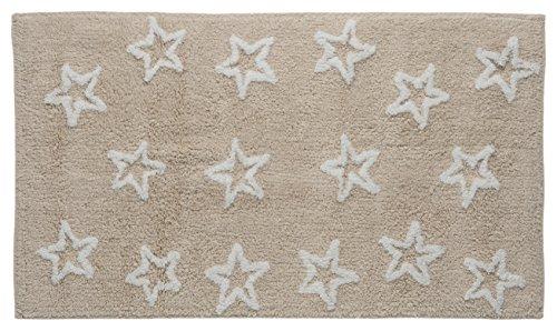 Un Casa & Design Rb Estrellas Alfombra, 100% Algodón, Camelia, 50 X 70 X 2 cm