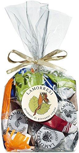 chocolats-de-luxe Lamorresi Cogno Barolo 200g Tüte Pralinen mit Grappa, Rum oder Barolo (Provinz-creme)