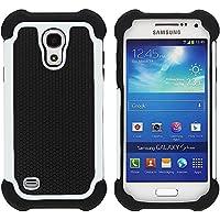 Samsung Galaxy I9195 S4 Mini carcasa exterior carcasa híbrida para tarros de marco protector de aluminio negro de color blanco