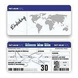 Einladungskarte Geburtstag Flugticket Ticket Geburtstagskarte Boarding Pass Bild (50 Stück)