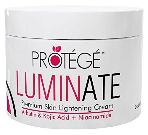 LUMINATE pelle crema schiarente - schiarente naturale della pelle Riduce macchie scure e macchie di età + tono irregolare della pelle irregolare + iperpigmentazione, con Arbutina + Acido cogico + Niacinamide (60 ml)