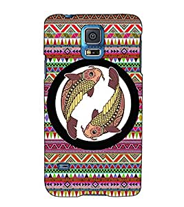 Fuson Designer Back Case Cover for Samsung Galaxy S5 :: Samsung Galaxy S5 G900I :: Samsung Galaxy S5 G900A G900F G900I G900M G900T G900W8 G900K (Meen designer pattern)
