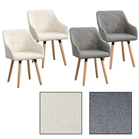 2/4/6/8x Vintage - Esszimmerstuhl Ilmar, Stühle, Vintage, Esszimmerstühle, Stoffbezug, Stuhl (4 Stück, (Stoffbezug Für Stühle)