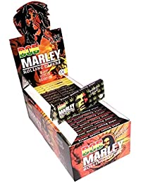 Bob Marley 11/4tamaño Pure Hemp–Papel de liar Rasta Leaf tema 20Folletos