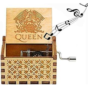 A-Wood Evelure Bo/îte /à Musique en Bois de la Reine bo/îtes /à Musique en Bois sculpt/ées /à la Main et cr/éatif sculpt/é /à la Main