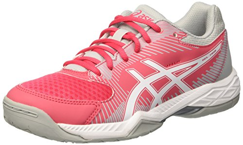 Asics Damen Gel-Task Volleyballschuhe, Rot (Rouge Red / White / Mid Grey), 40.5 EU