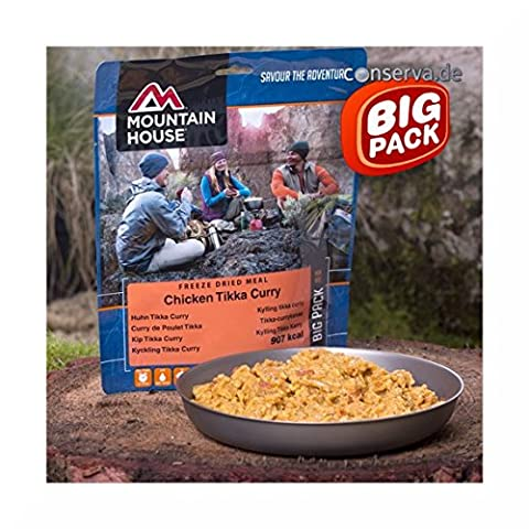 Mountain House Large Chicken Tikka and Rice Large pack, Server 2 or one large.