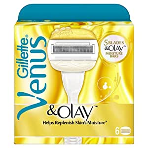 Gillette Venus and Olay Refill Razor Blades - Pack of 6