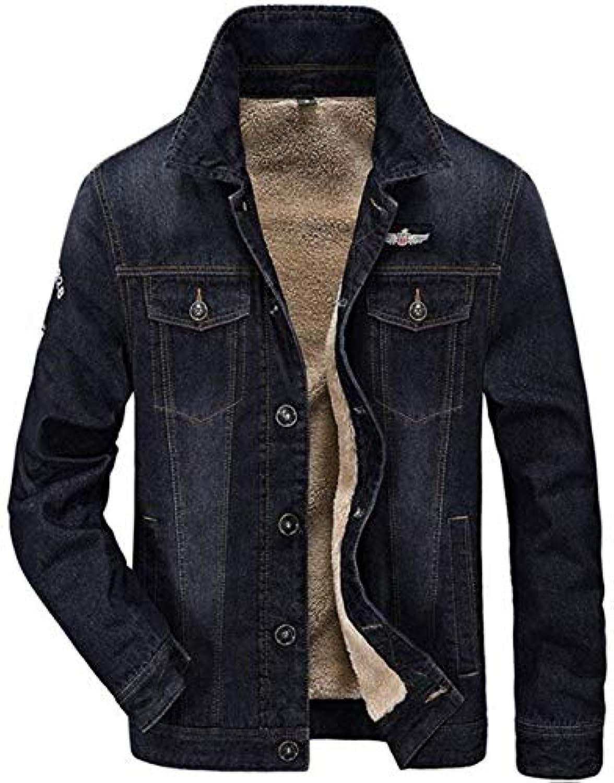 Betrossohales Parka Pelliccia Giubbotto Uomo in Giacca Jacket con Risvolto  Slim Lana Cappotto A con Jacket 43b8153f28b