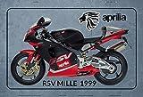Schatzmix Aprilia RSV Mille 1999 Motorrad blechschild