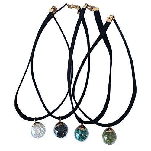 Chipped Gemstone Bottle Pendant Choker
