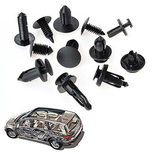 QLOUNI 240Pcs Rivet clip universel équipée tournevis et 4Pcs outil de démontage Retenue de fixation pour GM Ford Toyota Chrysler