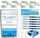 Deluxe-Zahnweiß-Set mit blauem LED-Laser-Licht – 6 hochstufige Zahngel-Zahnbeläge professionelles Aufbereiten