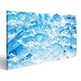 islandburner Canvas Wall Art ice cubes very close up Picture Poster Large XXL Photo Print JHM-1K-UK