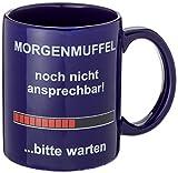 Fun Tasse Morgenmuffel Lustiger Kaffeebecher mit Spruch von Eatmyshirt